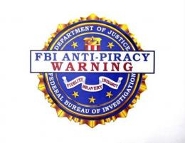 An FBI anti-piracy seal, to be displayed on digital and software intellectual property