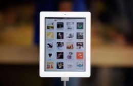 An iPad2 on display at the Apple store in San Francisco, California