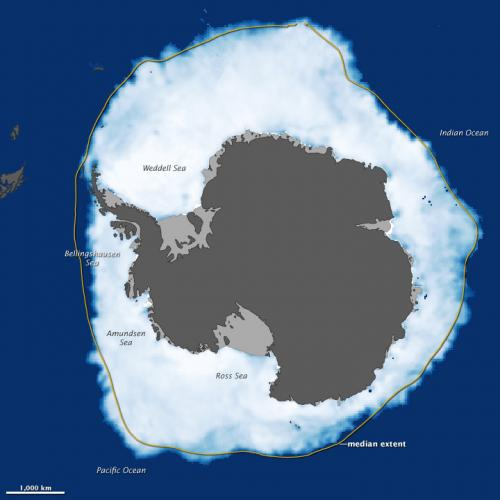 Antarctic Sea Ice Reaches New Max. Extent