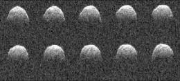 Asteroid nudged by sunlight: Most precise measurement of Yarkovsky effect