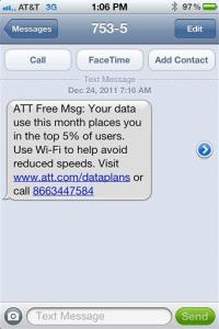 AT&T customers surprised by 'unlimited data' limit (AP)
