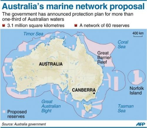 Australia's marine network proposal