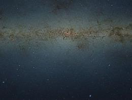 A veiw of central parts of the Milky Way obtained with the VISTA survey telescope