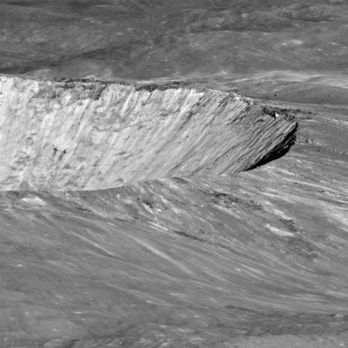 Barnstorming the moon's Giordano Bruno crater