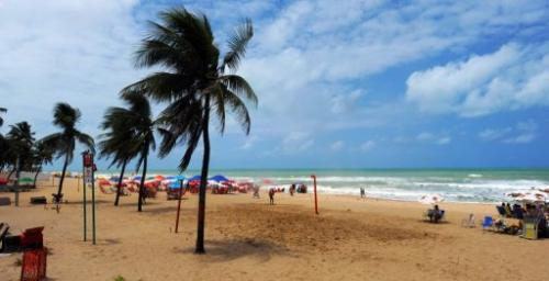 Boa Viagem beach in Recife, northeastern Brazil