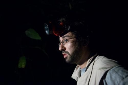 Brazilian biologist Michel Garey at work