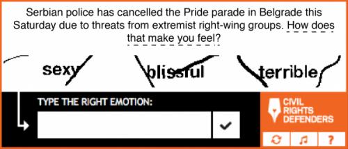 CAPTCHA evokes sympathetic (aka correct) response