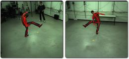 Capturing movements of actors and athletes in real time with conventional video cameras
