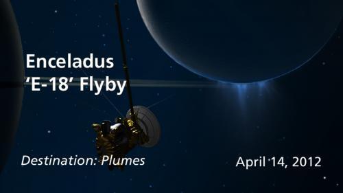 Cassini to dip into Enceladus spray again