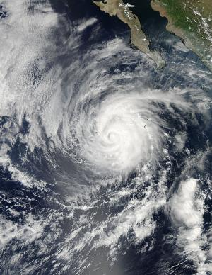 Category 2 Hurricane Miriam Seen in East Pacific by NASA satellite