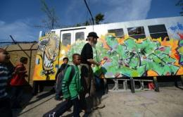 Children arrive at a community center in the south Bronx