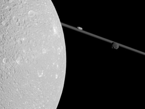 Closest Dione flyby