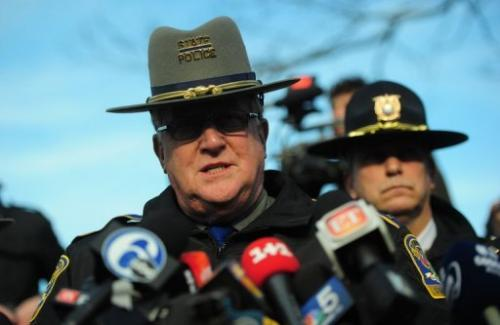 Connecticut State Police Lieutenant Paul Vance speaks to the media in Newtown, Connecticut, on December 15, 2012