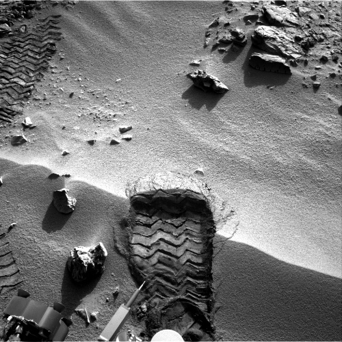 "Curiosity's ""Bootprint"" on Mars"