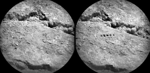 Curiosity's laser leaves its mark