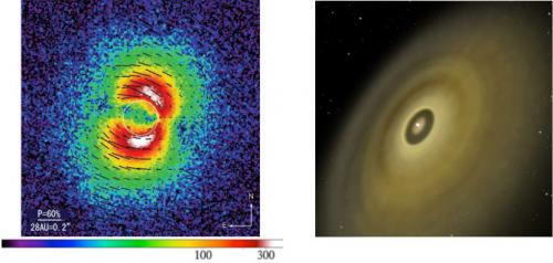 Dust grains highlight the path to planet formation