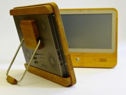 Eco-Computer with a natural wood look
