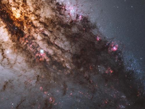Firestorm of star birth in galaxy centaurus A
