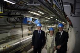 French Prime Minister Jean-Marc Ayrault  (left) visited the LHC on July 30