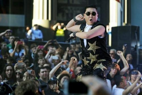 Gangnam Style singer Psy performs in Sydney on October 17