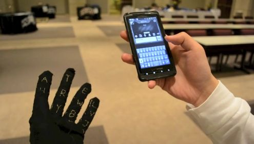 Design student creates G.A.U.N.T.L.E.T. glove that allows single handed typing (w/ Video)