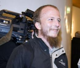 Gottfrid Svartholm Warg, the co-founder of The Pirate Bay filesharing website, is shown here in Stockholm in 2009