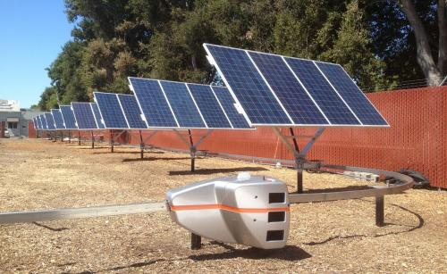 New startup uses robot to reposition solar panels