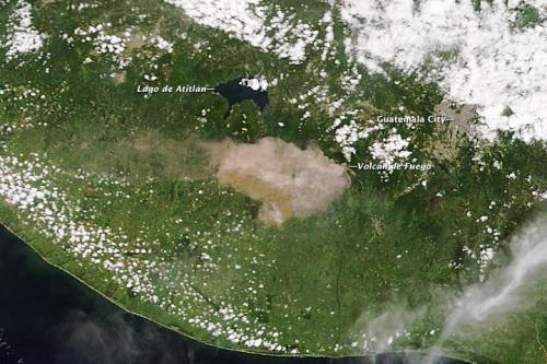 Guatemalan volcano erupting: NASA provides a satellite view
