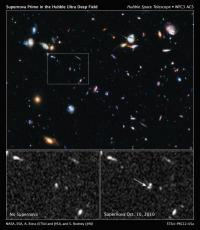 Hubble breaks new ground with discovery of distant exploding star