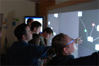Huge touchscreen to allow for real-time analysis