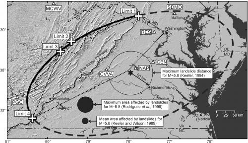 2011 Virginia quake triggered landslides at extraordinary distances