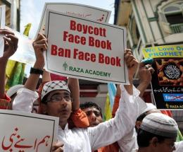 Indian Muslims have previously protested against Facebook, which says it has safeguards against abuse and obscenity