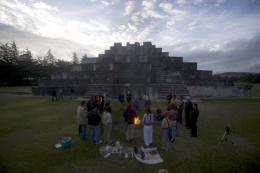 Indigenous Guatemalans take part in a Mayan ceremony