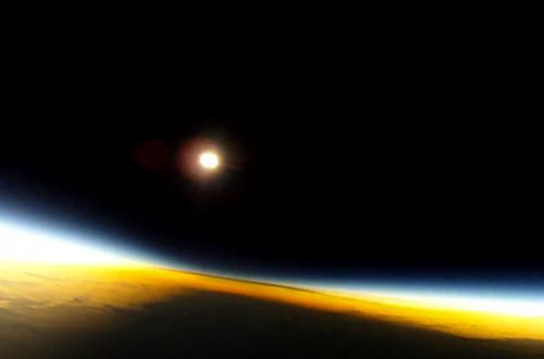 In the shadow of the Moon: Experience a solar eclipse from 37 kilometers up