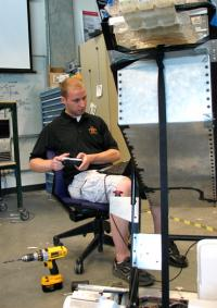 Iowa State students take a lighter, more autonomous 'lunabot' to NASA competition