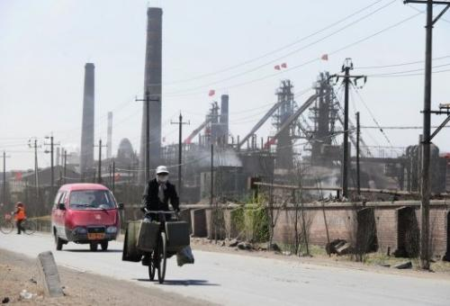 Iron, coal and rare earth processing plants in Baotou city in Inner Mongolia, northwest China