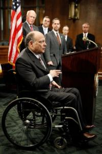 Joseph Cassilly of the National District Attorneys Association (seated)