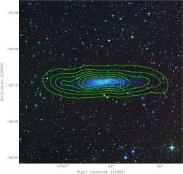 First atomic hydrogen spectral line images of a nearby galaxy