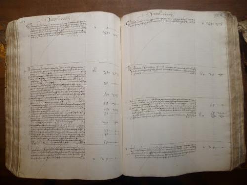Ledger entry in the Libro Giallo / 'Yellow Book'