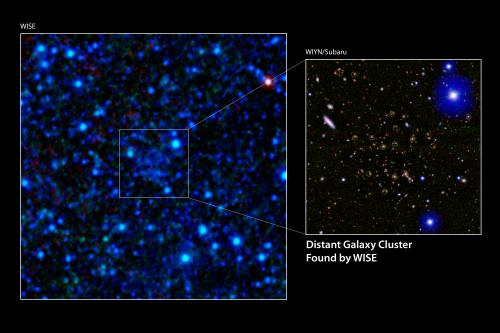 Little Telescope Spies Gigantic Galaxy Clusters