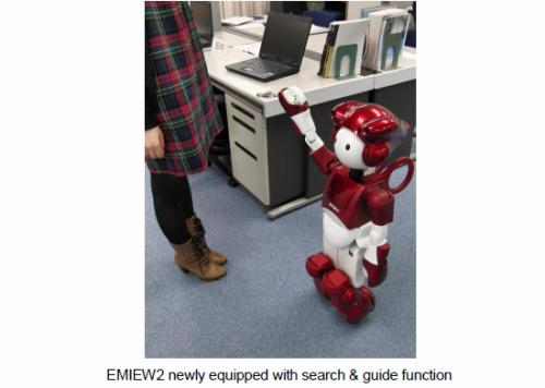 Locate and guide function for the human symbiotic robot