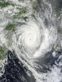 Major Tropical Cyclone Funso analyzed by 2 NASA satellites
