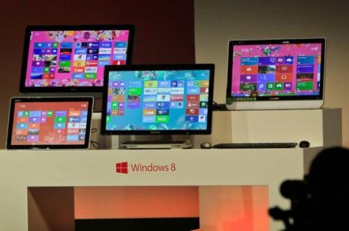 Microsoft's Slate tablet and Windows 8 software are diaplyed in Shanghai