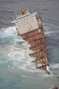 More containers is expected to be lost as both sections of the ship were open to the sea and vulnerable to more damage