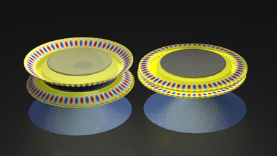 Nano oscillators synchronized by light
