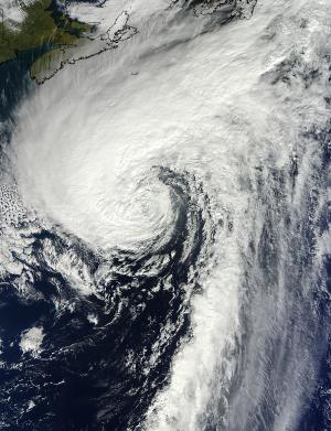 NASA catches last image of Rafael as a hurricane, now merged with front