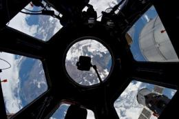 NASA image released January 6, 2012, photographed through the Cupola on the International Space Station
