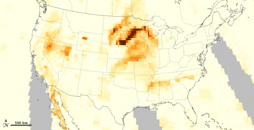 NASA measures aerosols from western fires