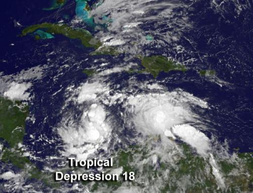NASA sees 18th Atlantic depression form