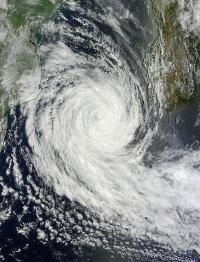 NASA sees a weakening Cyclone Funso's 'closed eye'